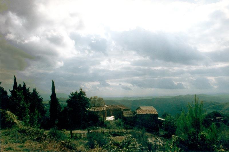 Wolken über der Toscana