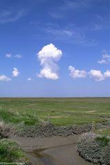 Wolken über Nordfriesland