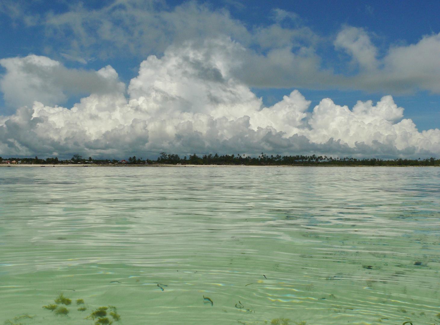 Wolken über Unguja /Zanzibar/