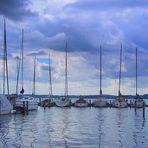 Wolken überm Yachthafen