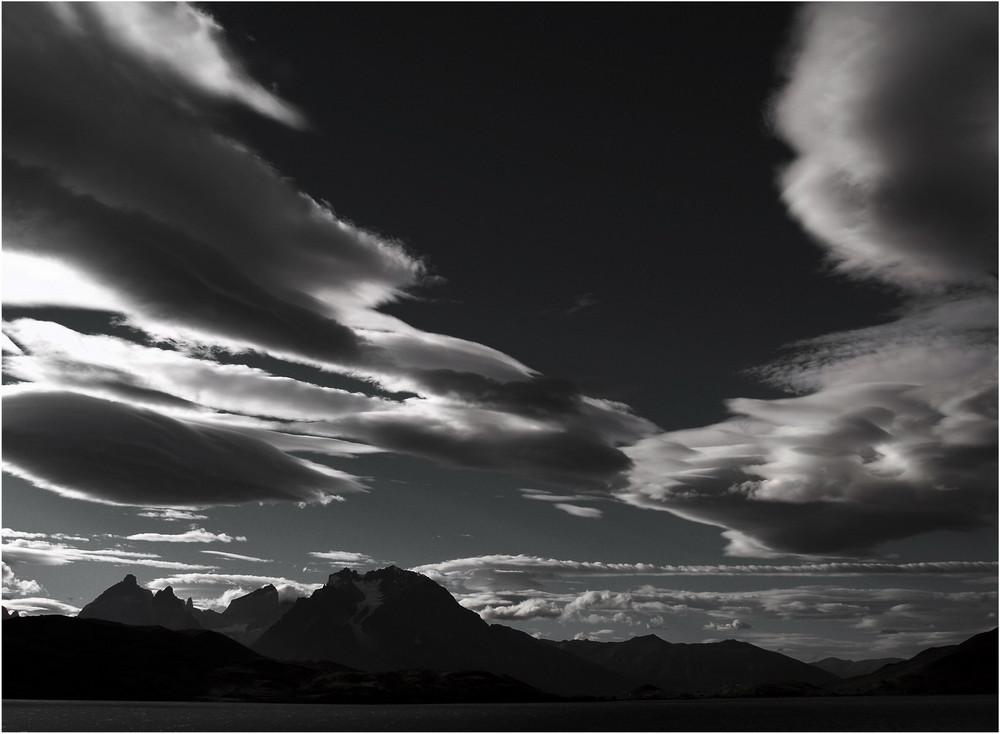 Wolken und Berge ...