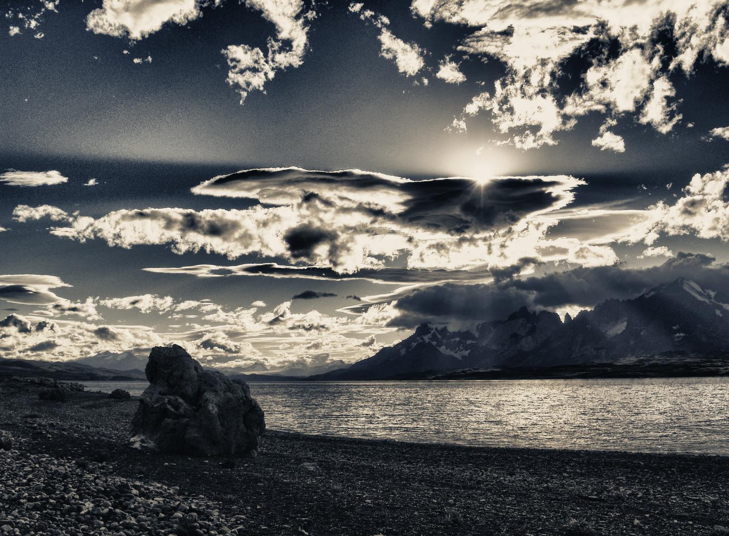 wolken und berge in patagonien ..