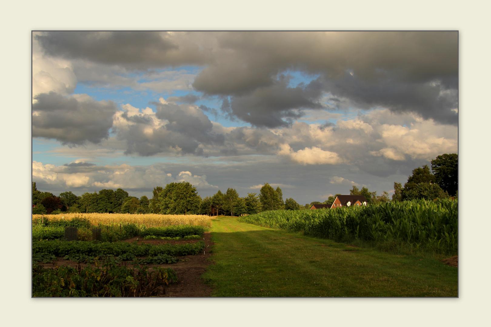 Wolken und Sonne...
