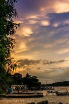 Wolken verziehen sich nach dem Regen
