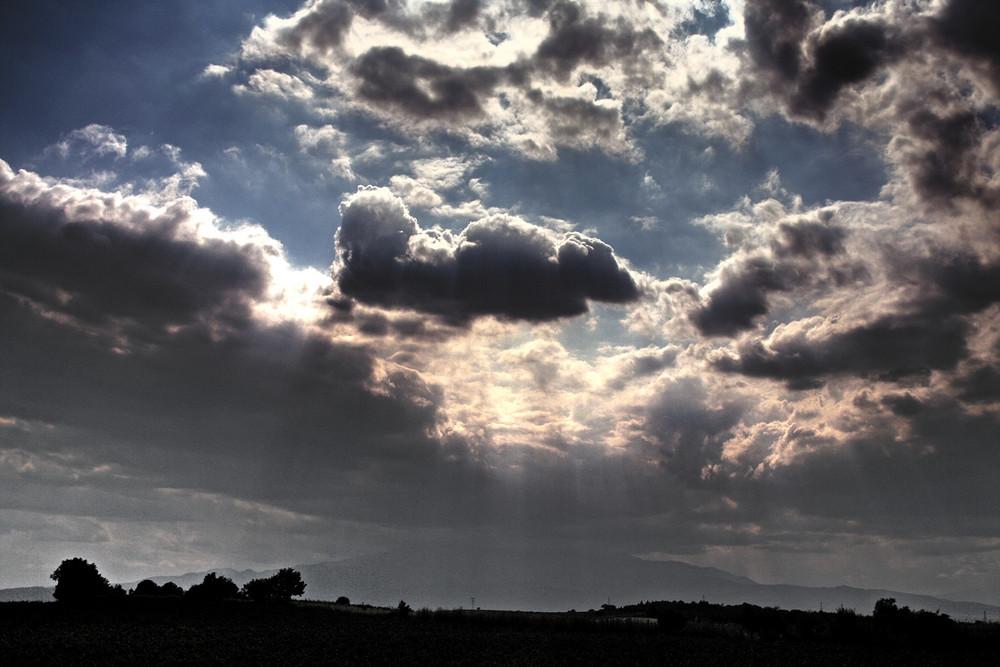 Wolken ziehen