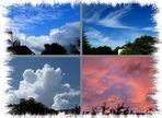 Wolkenbilder morgens - mittags - abends