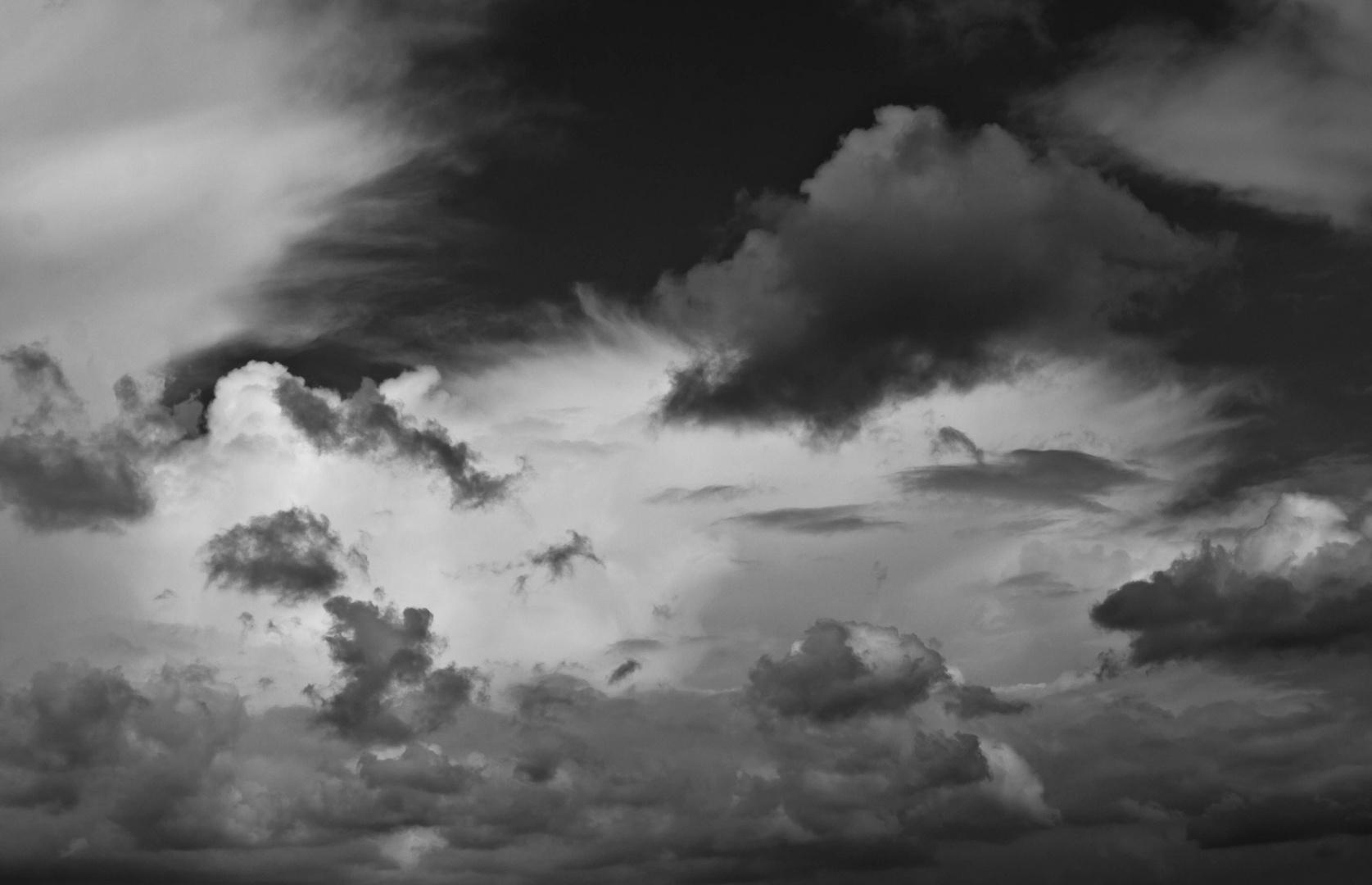 Wolkenbilder SchwarzWeiss
