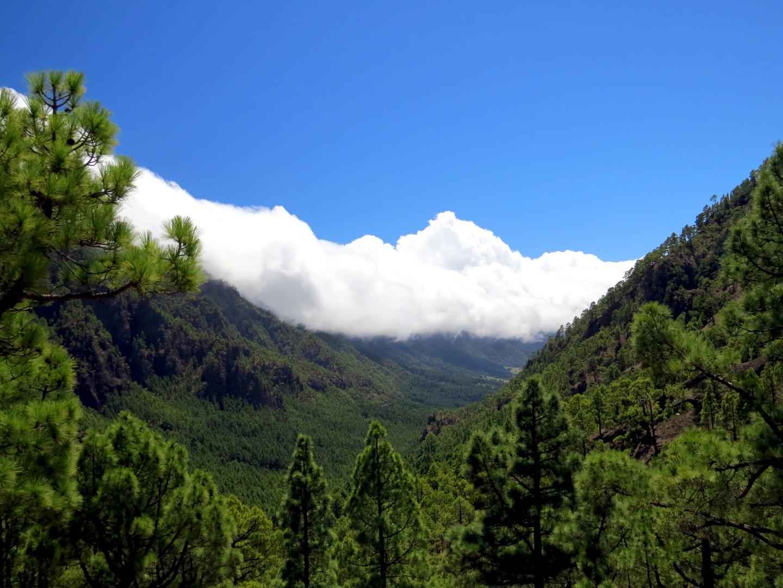 Wolkenfall - La Cumbrecita, Nationalpark Caldera de Taburiente, auf der Kanareninsel La Palma