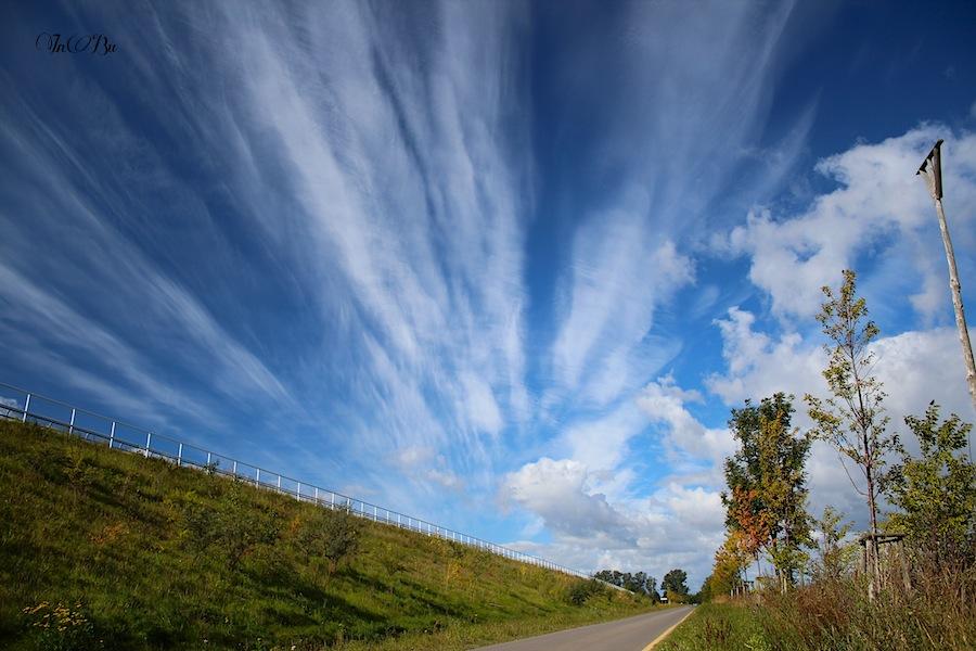 Wolkenformation in Mecklenburg-Vorpommern