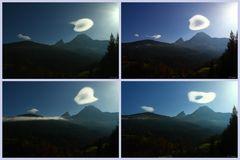 Wolkenformation über dem Watzmann