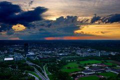 Wolkengebilde über München