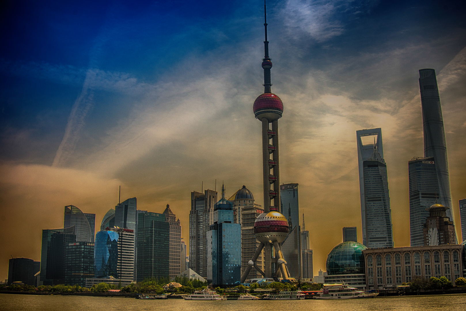 Wolkenkratzer Pudong HDR160501_3