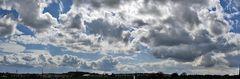 Wolkenpano am 13.04. südlich von Dresden mit Blick nach Bannewitz