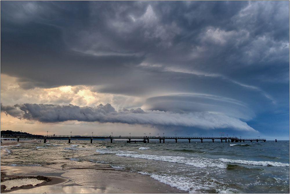 Wolkenphänomen auf Rügen