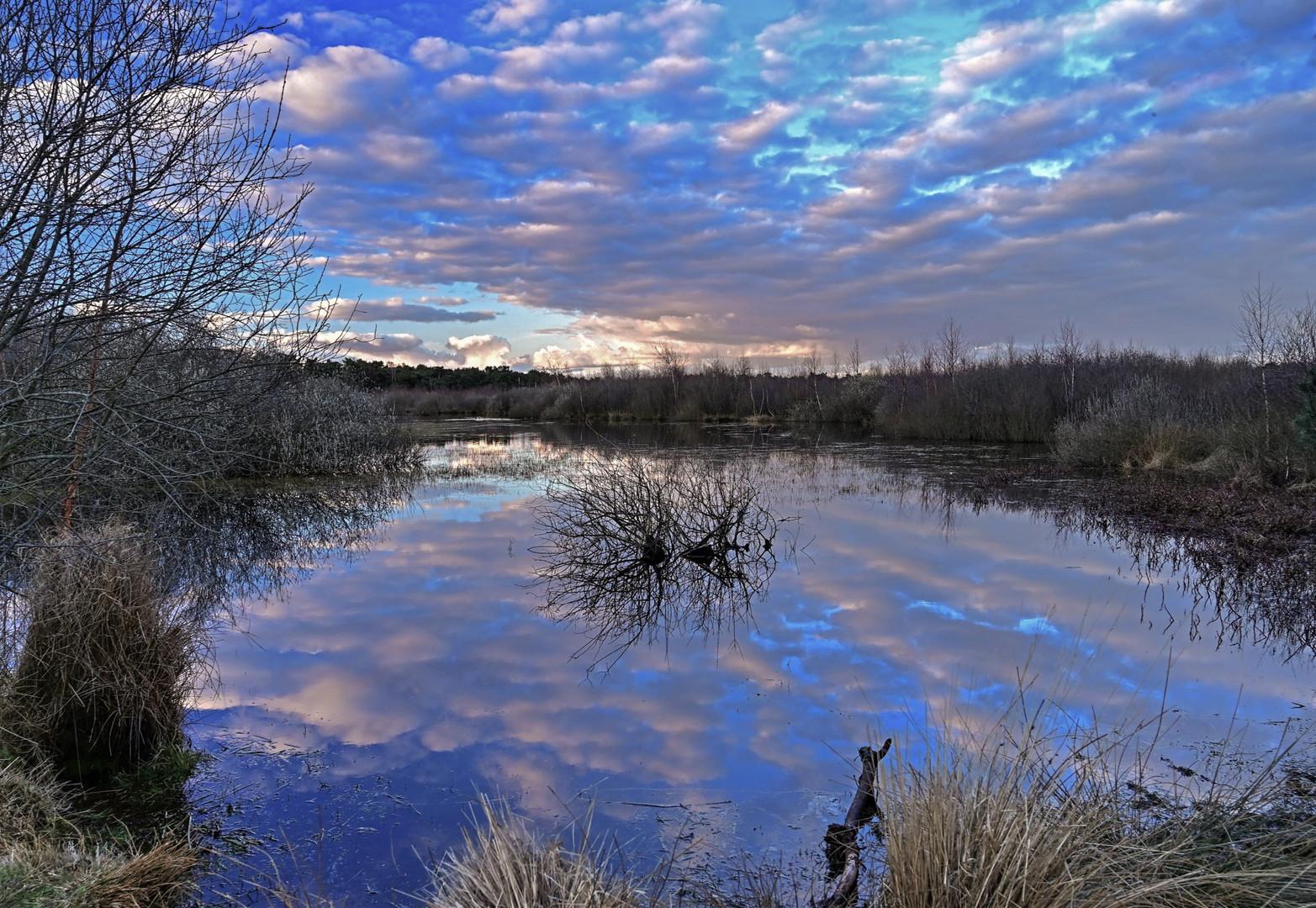 Wolkenspiel am Heidesee