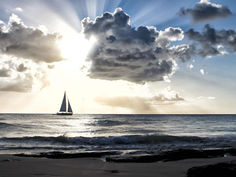 Wolkenspiel auf Barbados