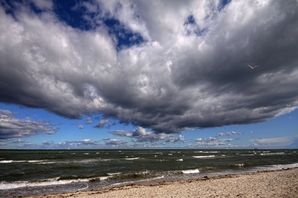 Wolkenstimmung über der Ostsee