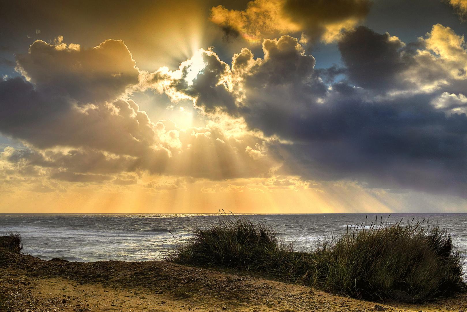 Wolkenstimmung vor Sylt