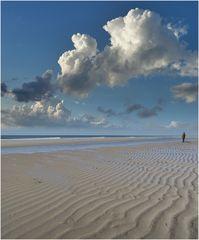 Wolkenstrand auf Texel