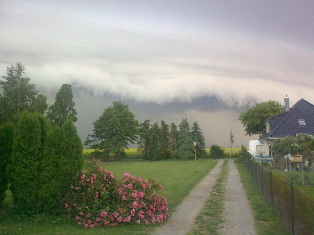 Wolkenwand extreme