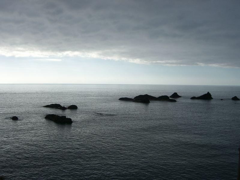 Wolkenwand über der Küste La Palmas