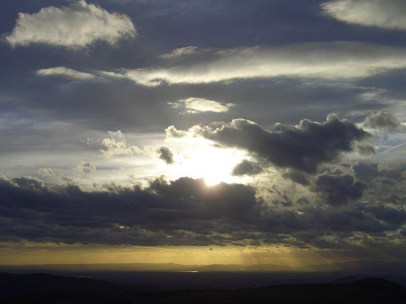 Wolkenzug am Milleschauer