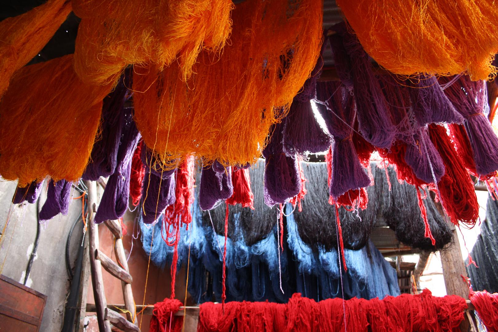 Woll-Souk in Marrakesch