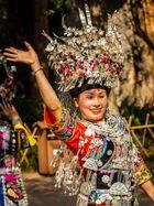 Woman from Miao Minority having fun