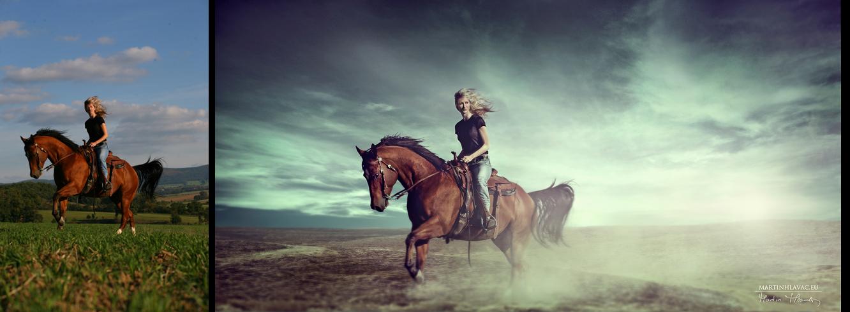 woman-horse