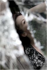 woman in a window