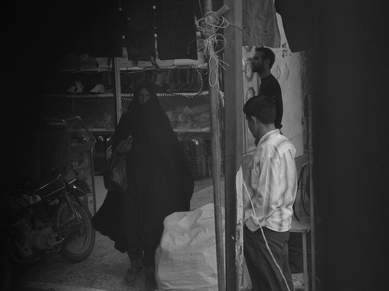 woman in bazar