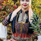 Woman in Bulgarian Folk Costume from Kuystendil