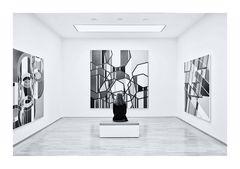 woman, room, art