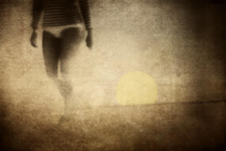 Woman Walking on the Beach #1.