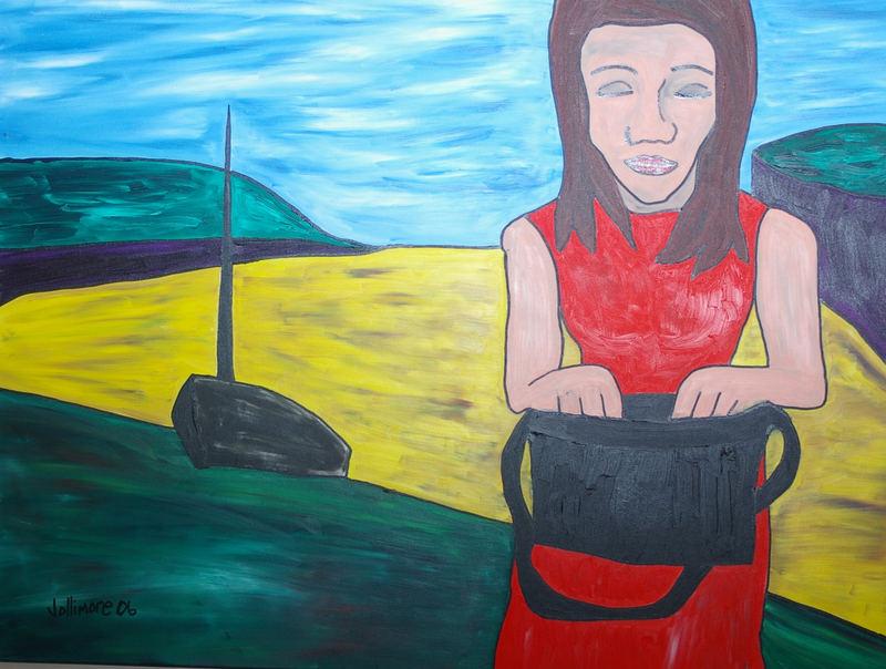 woman with black purse II
