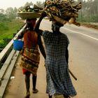 Women on Ankobra bridge, Ghana, 2003