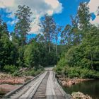 Wooden bridge over the rivulet