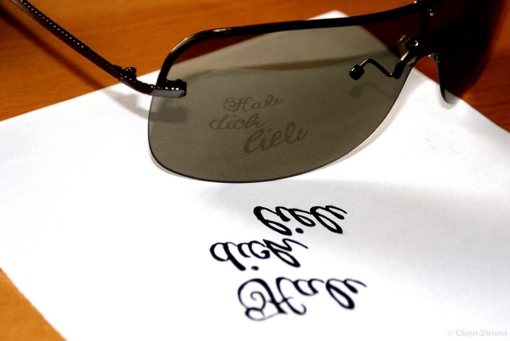 *Words don`t come easy to the glasses*