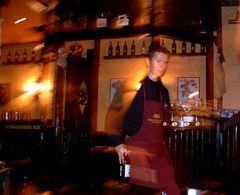 working waiter