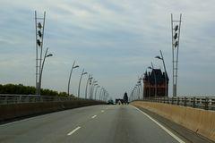 Worms - Neue Rheinbrücke und Stadttor (IIa)