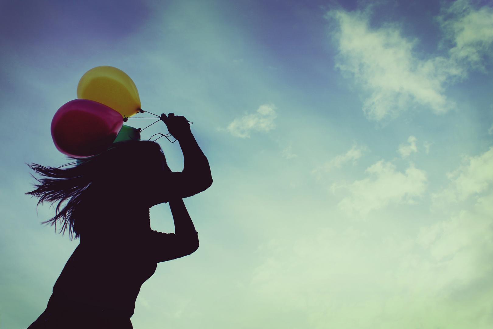 Worte sind wie Nadeln.. - gefährlich für schöne bunte Luftballons.