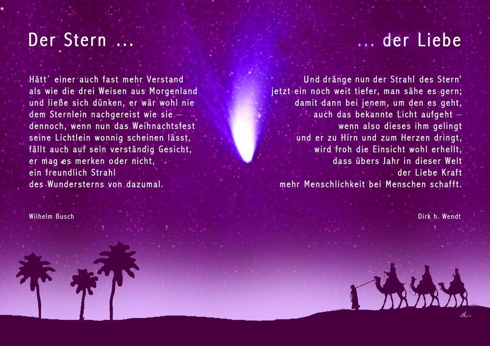 Worte zu Weihnachten: Der Stern … der Liebe Foto & Bild