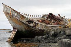 Wrack auf Insel Flatey