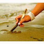 written in the sand . . .