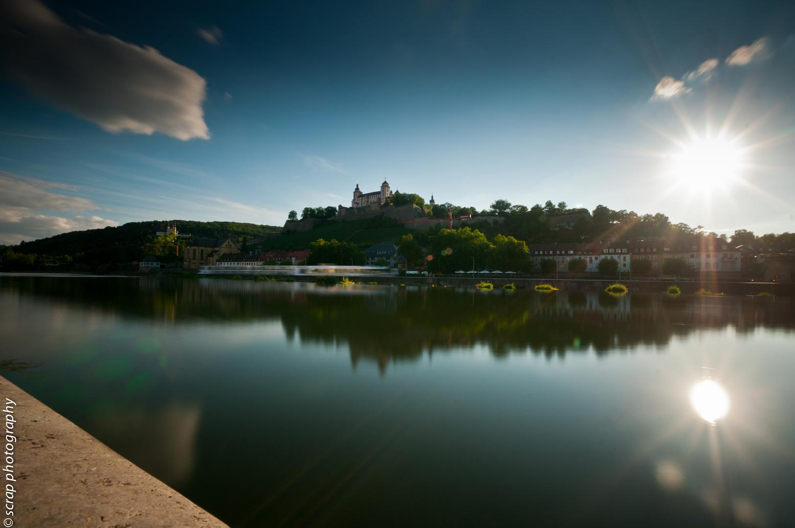 Würzburg: Festung Marienberg, Käppele, Main