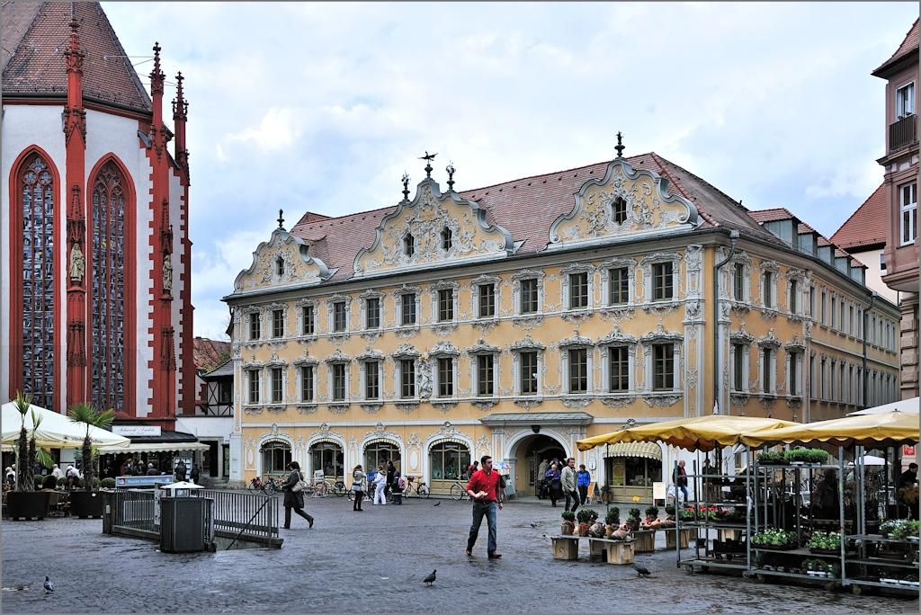 Würzburg - Markt und Falkenhaus