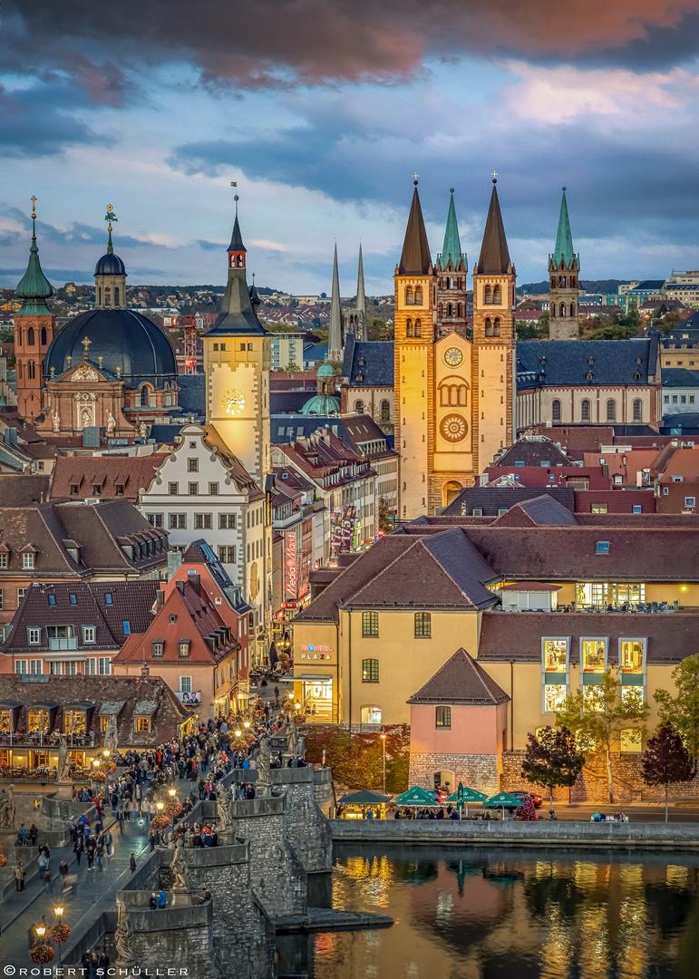 Würzburg mit vielen Türmen