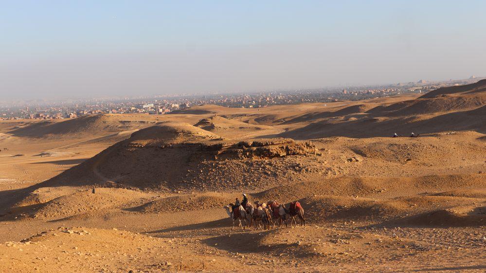 Wüste bei den Pyramiden