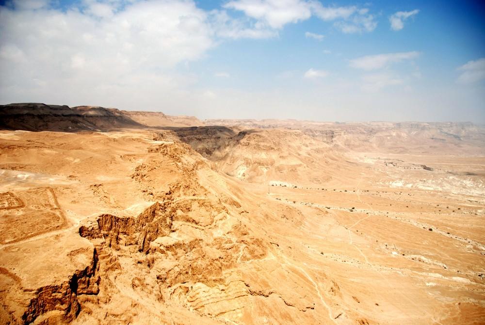 Wüste um Masada