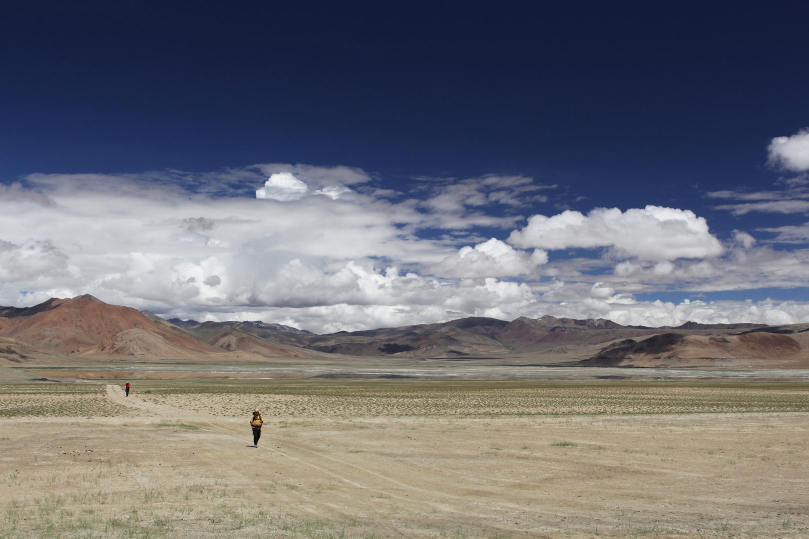 Wüstenlandschaft im Himalaya